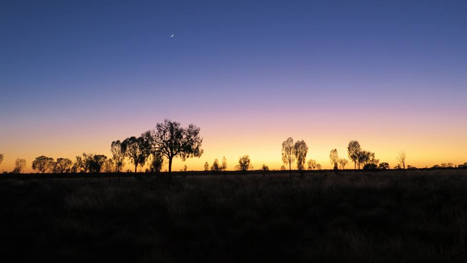 Night in the desert. Australia