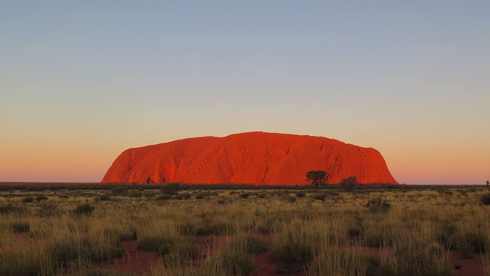 Sunset over Uluru, Australia