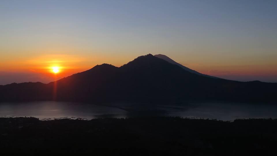 Sunrise over mount Batur, Bali