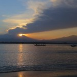 Sunrise over mount Rinjani, Lombok