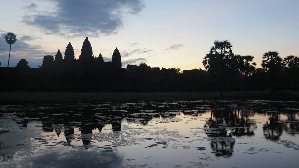 Angkor Wat before sunrise, Cambodia